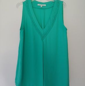 Daniel Rainn Sleeveless Aqua Blouse